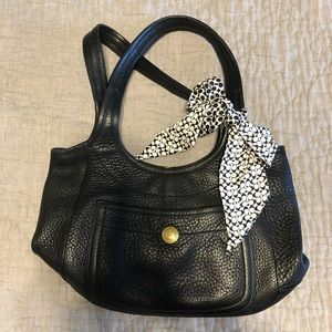 COACH legacy leather purse. Scarf included.
